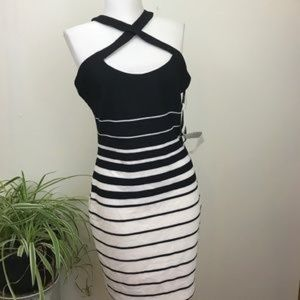 NWT Guess black and white striped dress sz 2